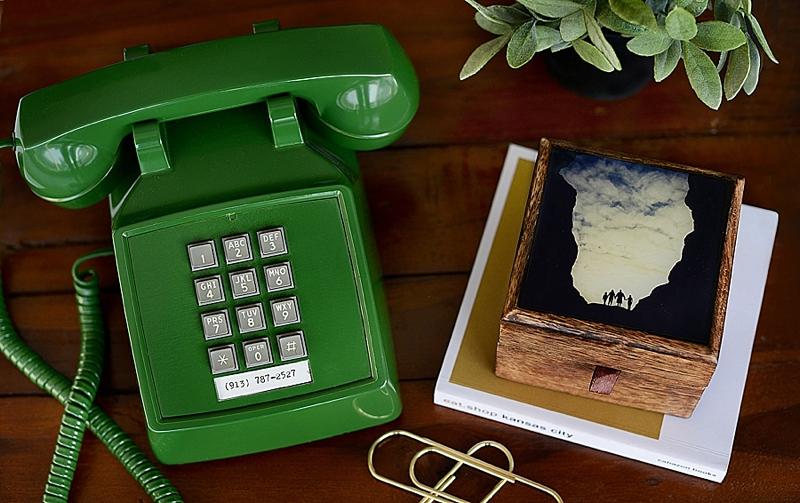 Heather Morrow Green Vintage Phone